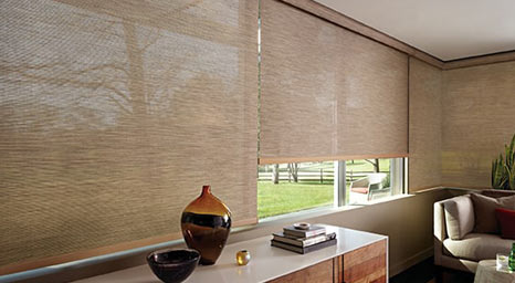 Designer Screen Shades from Hunter Douglas available at The Carpet Man in Clearlake and Lakeport.