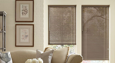 Metal Blinds from Hunter Douglas available at The Carpet Man in Clearlake and Lakeport.