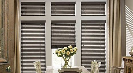 Wood Blinds from Hunter Douglas available at The Carpet Man in Clearlake and Lakeport.